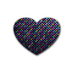 Polka Dot Sparkley Jewels 2 Drink Coasters (heart) by MedusArt
