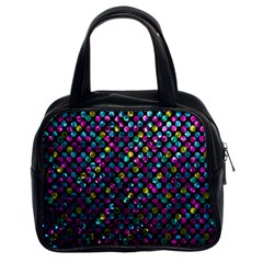 Polka Dot Sparkley Jewels 2 Classic Handbag (two Sides) by MedusArt
