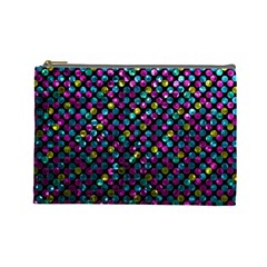Polka Dot Sparkley Jewels 2 Cosmetic Bag (large) by MedusArt