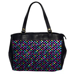 Polka Dot Sparkley Jewels 2 Oversize Office Handbag (two Sides) by MedusArt