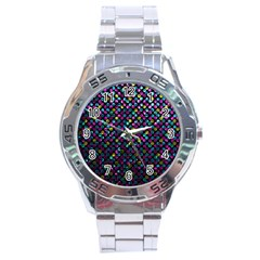 Polka Dot Sparkley Jewels 2 Stainless Steel Watch by MedusArt