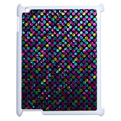 Polka Dot Sparkley Jewels 2 Apple Ipad 2 Case (white) by MedusArt
