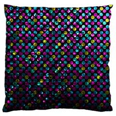 Polka Dot Sparkley Jewels 2 Large Cushion Case (two Sided)  by MedusArt