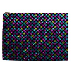 Polka Dot Sparkley Jewels 2 Cosmetic Bag (xxl) by MedusArt