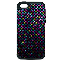 Polka Dot Sparkley Jewels 2 Apple Iphone 5 Hardshell Case (pc+silicone) by MedusArt