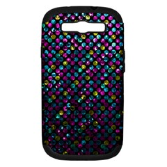 Polka Dot Sparkley Jewels 2 Samsung Galaxy S Iii Hardshell Case (pc+silicone) by MedusArt