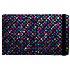 Polka Dot Sparkley Jewels 2 Apple Ipad 2 Flip Case by MedusArt
