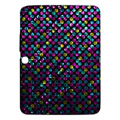 Polka Dot Sparkley Jewels 2 Samsung Galaxy Tab 3 (10 1 ) P5200 Hardshell Case  by MedusArt