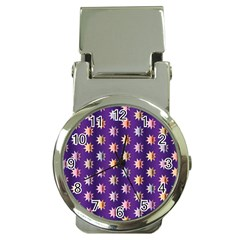 Flare Polka Dots Money Clip With Watch by Colorfulplayground