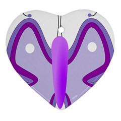 Cute Awareness Butterfly Heart Ornament