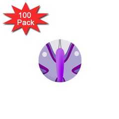 Cute Awareness Butterfly 1  Mini Button (100 Pack) by FunWithFibro