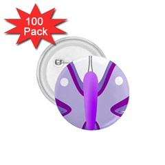 Cute Awareness Butterfly 1 75  Button (100 Pack) by FunWithFibro