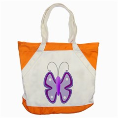 Cute Awareness Butterfly Accent Tote Bag by FunWithFibro