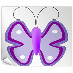 Cute Awareness Butterfly Canvas 8  X 10  (unframed) by FunWithFibro