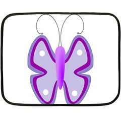 Cute Awareness Butterfly Mini Fleece Blanket (Two Sided)