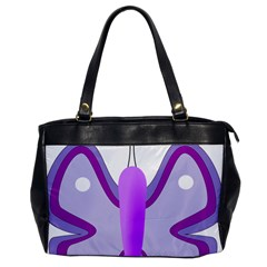 Cute Awareness Butterfly Oversize Office Handbag (one Side) by FunWithFibro