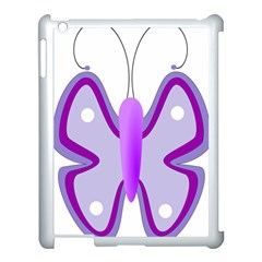Cute Awareness Butterfly Apple Ipad 3/4 Case (white) by FunWithFibro