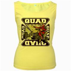 Quad Racer Women s Yellow Tank Top by MegaSportsFan