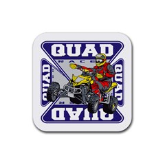 Quad Racer Rubber Square Coaster (4 Pack) by MegaSportsFan
