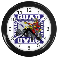Quad Racer Wall Clock (black) by MegaSportsFan