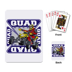 Quad Racer Playing Cards Single Design by MegaSportsFan