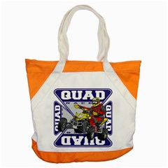 Quad Racer Accent Tote Bag by MegaSportsFan