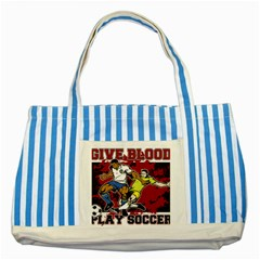 Sprint Car Do It In The Dirt Striped Blue Tote Bag by MegaSportsFan