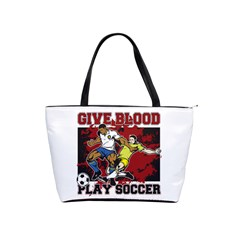 Give Blood Play Soccer Classic Shoulder Handbag by MegaSportsFan