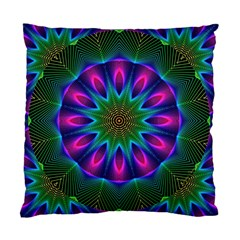 Star Of Leaves, Abstract Magenta Green Forest Cushion Case (single Sided)  by DianeClancy