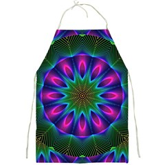Star Of Leaves, Abstract Magenta Green Forest Apron by DianeClancy