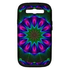 Star Of Leaves, Abstract Magenta Green Forest Samsung Galaxy S Iii Hardshell Case (pc+silicone) by DianeClancy