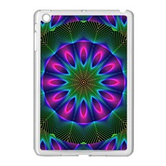 Star Of Leaves, Abstract Magenta Green Forest Apple Ipad Mini Case (white) by DianeClancy