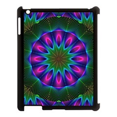 Star Of Leaves, Abstract Magenta Green Forest Apple Ipad 3/4 Case (black) by DianeClancy