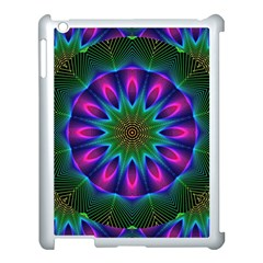 Star Of Leaves, Abstract Magenta Green Forest Apple Ipad 3/4 Case (white) by DianeClancy