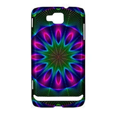 Star Of Leaves, Abstract Magenta Green Forest Samsung Ativ S i8750 Hardshell Case by DianeClancy