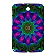 Star Of Leaves, Abstract Magenta Green Forest Samsung Galaxy Note 8 0 N5100 Hardshell Case  by DianeClancy