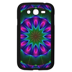 Star Of Leaves, Abstract Magenta Green Forest Samsung Galaxy Grand Duos I9082 Case (black) by DianeClancy