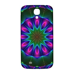Star Of Leaves, Abstract Magenta Green Forest Samsung Galaxy S4 I9500/i9505  Hardshell Back Case by DianeClancy