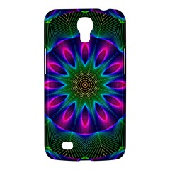 Star Of Leaves, Abstract Magenta Green Forest Samsung Galaxy Mega 6 3  I9200 Hardshell Case by DianeClancy