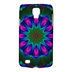 Star Of Leaves, Abstract Magenta Green Forest Samsung Galaxy S4 Active (i9295) Hardshell Case by DianeClancy