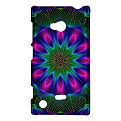 Star Of Leaves, Abstract Magenta Green Forest Nokia Lumia 720 Hardshell Case by DianeClancy