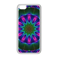 Star Of Leaves, Abstract Magenta Green Forest Apple Iphone 5c Seamless Case (white) by DianeClancy