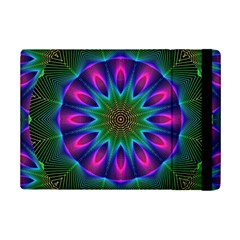 Star Of Leaves, Abstract Magenta Green Forest Apple Ipad Mini 2 Flip Case by DianeClancy