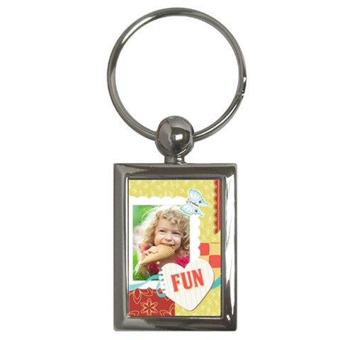 Kids By Kids   Key Chain (rectangle)   Veexkw6phch5   Www Artscow Com Front