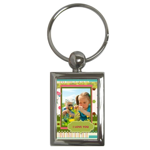 Kids By Kids   Key Chain (rectangle)   Nc5k9o0iq2d4   Www Artscow Com Front