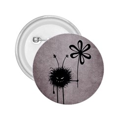 Evil Flower Bug Vintage 2 25  Button by CreaturesStore