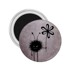Evil Flower Bug Vintage 2 25  Button Magnet