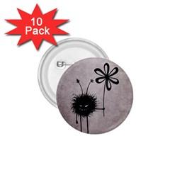 Evil Flower Bug Vintage 1 75  Button (10 Pack)