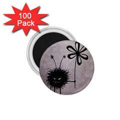 Evil Flower Bug Vintage 1 75  Button Magnet (100 Pack)