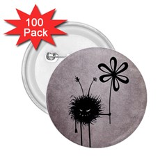 Evil Flower Bug Vintage 2 25  Button (100 Pack) by CreaturesStore